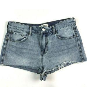 Bullhead Denim Co Jean Shorts 28 High Rise Frayed